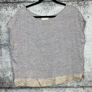We Are Stories // Natural Fiber Boxy Fit Top